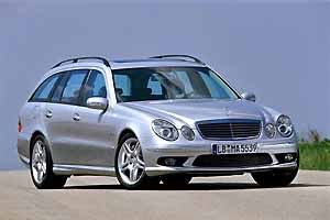 mercedes-benz e 55 amg estate, photo by daimlerchrysler 07-03