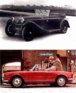 6c 1750 1931 and giulietta spider 1955, photo by alfa romeo 12/01